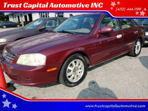 2001 Kia Optima for sale at Trust Capital Automotive Inc. in Covington GA
