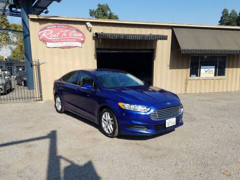2014 Ford Fusion for sale at Rent To Own Auto Showroom LLC - Finance Inventory in Modesto CA