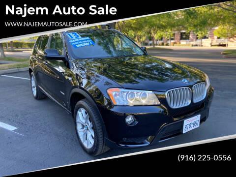 2013 BMW X3 for sale at Najem Auto Sale in Sacramento CA