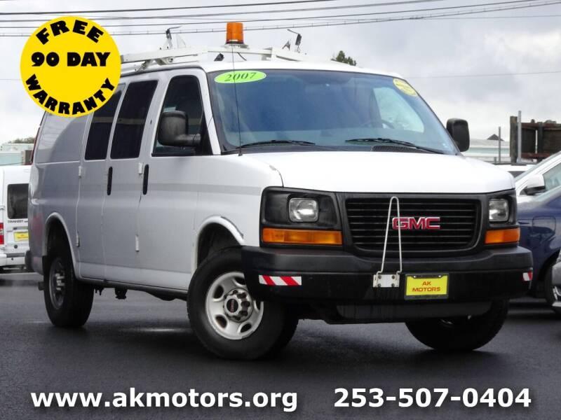 2007 GMC Savana Cargo for sale at AK Motors in Tacoma WA