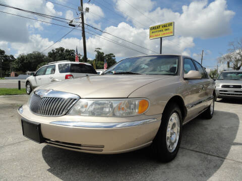 1998 Lincoln Continental for sale at GREAT VALUE MOTORS in Jacksonville FL