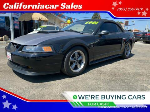 2001 Ford Mustang for sale at Californiacar Sales in Santa Maria CA