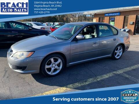 2009 Subaru Legacy for sale at Beach Auto Sales in Virginia Beach VA
