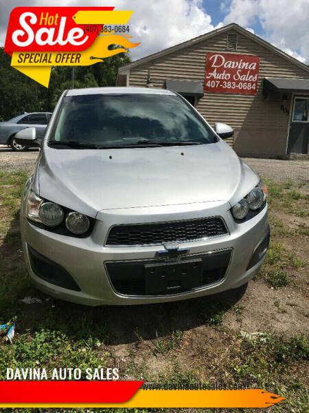 2013 Chevrolet Sonic for sale at DAVINA AUTO SALES in Orlando FL
