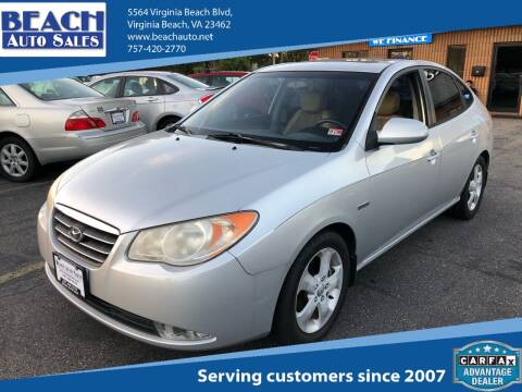 2007 Hyundai Elantra for sale at Beach Auto Sales in Virginia Beach VA