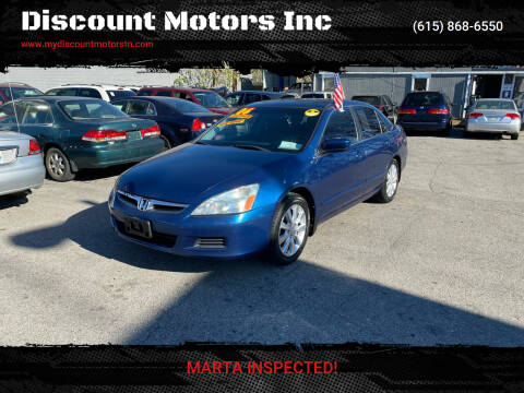 2006 Honda Accord for sale at Discount Motors Inc in Madison TN