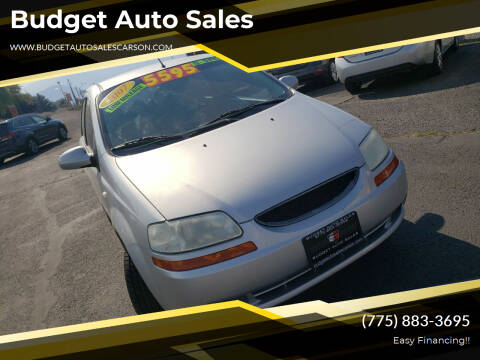 2007 Chevrolet Aveo for sale at Budget Auto Sales in Carson City NV
