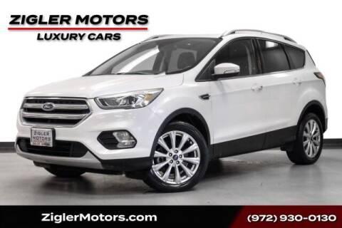 2017 Ford Escape for sale at Zigler Motors in Addison TX