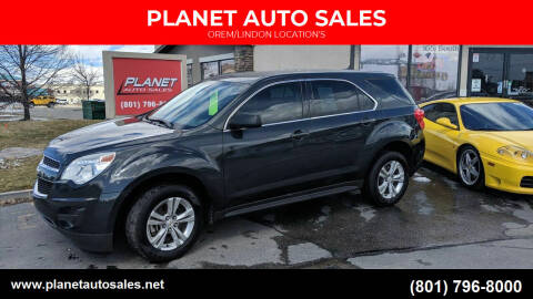 2014 Chevrolet Equinox for sale at PLANET AUTO SALES in Lindon UT
