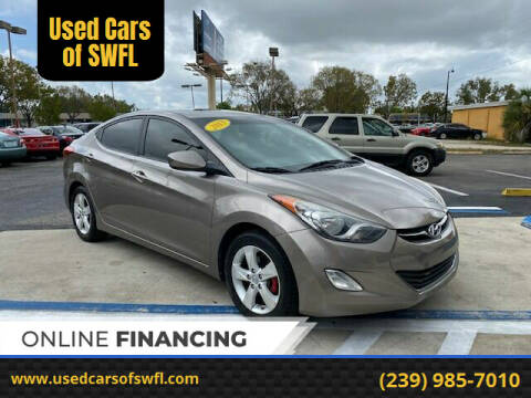 2013 Hyundai Elantra for sale at Used Cars of SWFL in Fort Myers FL