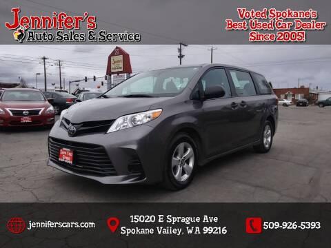 2018 Toyota Sienna for sale at Jennifer's Auto Sales in Spokane Valley WA