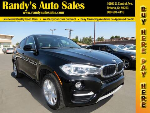 2016 BMW X6 for sale at Randy's Auto Sales in Ontario CA