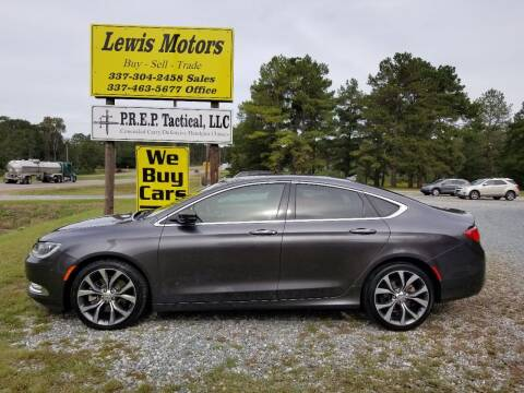 2015 Chrysler 200 for sale at Lewis Motors LLC in Deridder LA