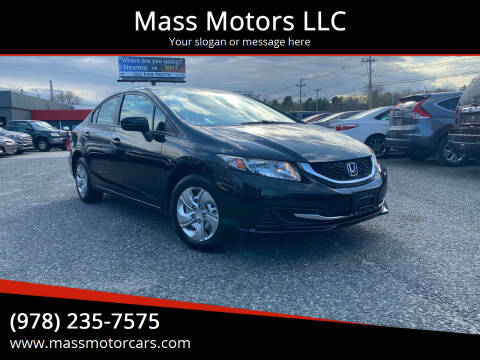 2015 Honda Civic for sale at Mass Motors LLC in Worcester MA
