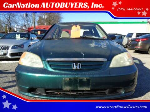 2001 Honda Civic for sale at CarNation AUTOBUYERS, Inc. in Rockville Centre NY