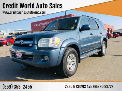 2006 Toyota Sequoia for sale at Credit World Auto Sales in Fresno CA