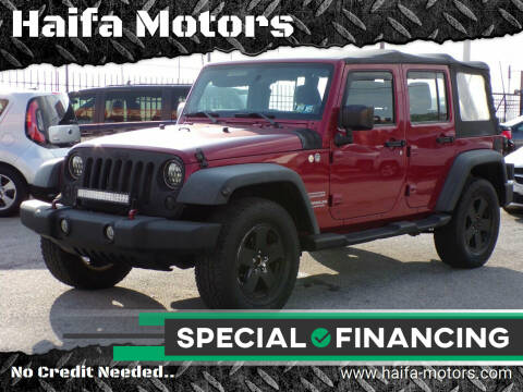 2011 Jeep Wrangler Unlimited for sale at Haifa Motors in Philadelphia PA