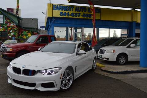 2015 BMW 4 Series for sale at Earnest Auto Sales in Roseburg OR
