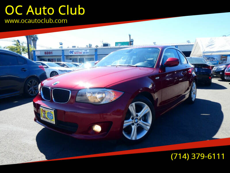 2013 BMW 1 Series for sale at OC Auto Club in Midway City CA