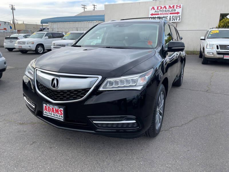 2014 Acura MDX for sale at Adams Auto Sales in Sacramento CA