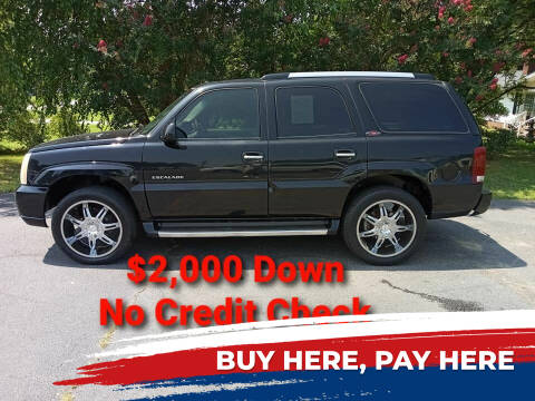 2002 Cadillac Escalade for sale at BP Auto Finders in Durham NC