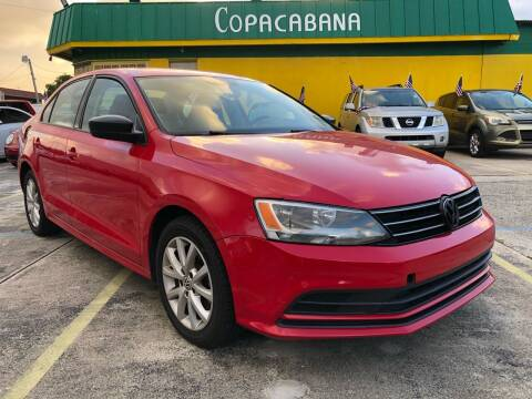 2015 Volkswagen Jetta for sale at Trans Copacabana Auto Sales in Hollywood FL