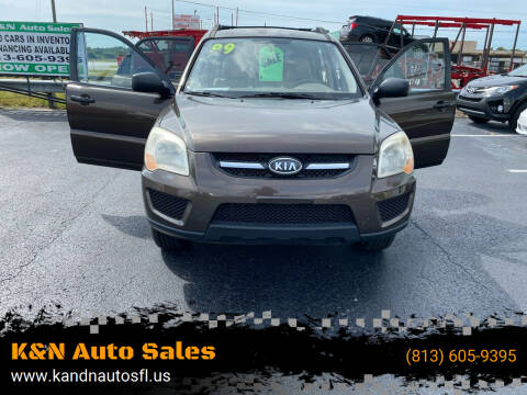2009 Kia Sportage for sale at K&N Auto Sales in Tampa FL