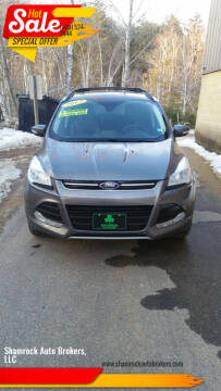 2013 Ford Escape for sale at Shamrock Auto Brokers, LLC in Belmont NH