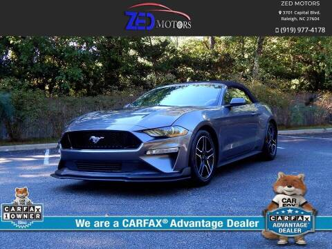 2021 Ford Mustang for sale at Zed Motors in Raleigh NC