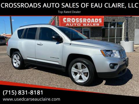 2011 Jeep Compass for sale at CROSSROADS AUTO SALES OF EAU CLAIRE, LLC in Eau Claire WI