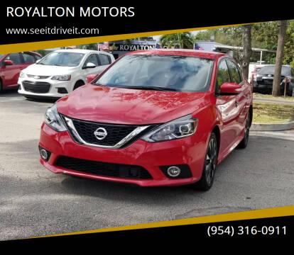 2019 Nissan Sentra for sale at ROYALTON MOTORS in Plantation FL