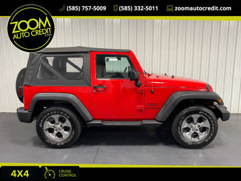 2016 Jeep Wrangler for sale at ZoomAutoCredit.com in Elba NY