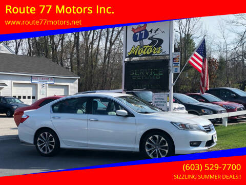 2015 Honda Accord for sale at Route 77 Motors Inc. in Weare NH