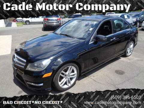 2013 Mercedes-Benz C-Class for sale at Cade Motor Company in Lawrenceville NJ
