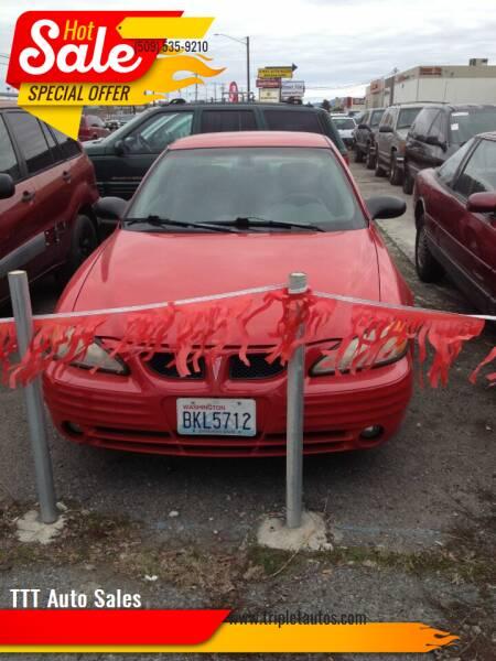 2002 Pontiac Grand Am for sale at TTT Auto Sales in Spokane WA