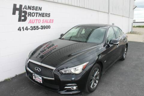 2017 Infiniti Q50 for sale at HANSEN BROTHERS AUTO SALES in Milwaukee WI