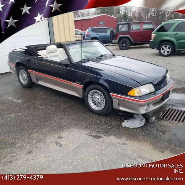 1988 Ford Mustang for sale at Discount Motor Sales inc. in Ludlow MA