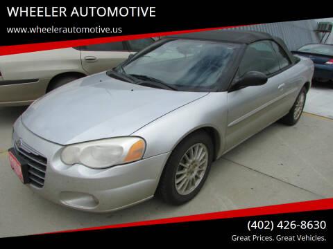 2004 Chrysler Sebring for sale at WHEELER AUTOMOTIVE in Blair NE