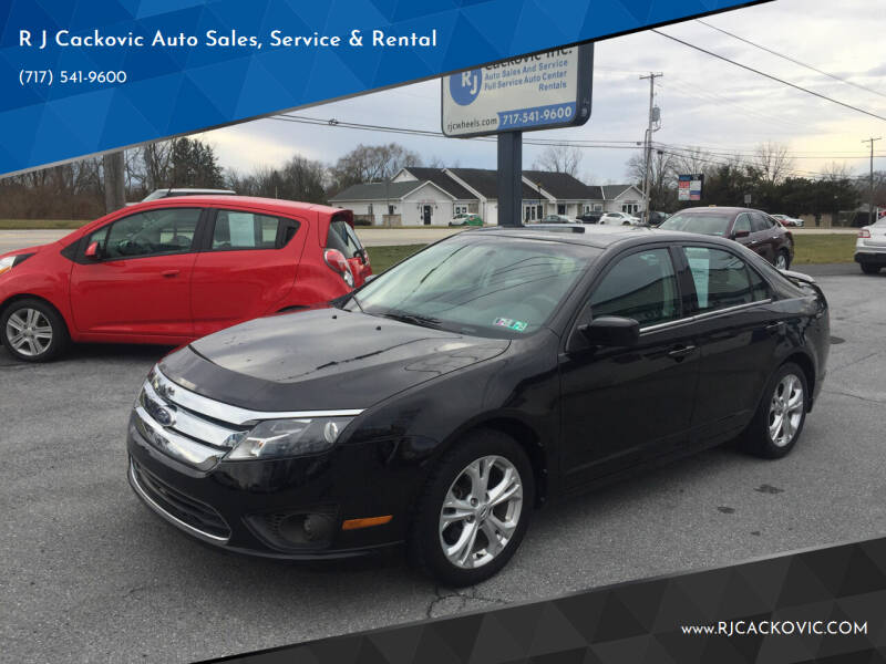 2012 Ford Fusion for sale at R J Cackovic Auto Sales, Service & Rental in Harrisburg PA