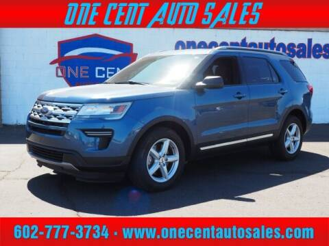 2019 Ford Explorer for sale at One Cent Auto Sales in Glendale AZ