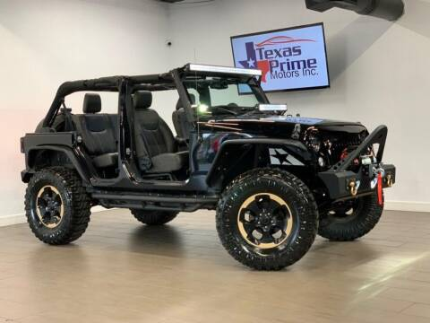 2014 Jeep Wrangler Unlimited for sale at Texas Prime Motors in Houston TX