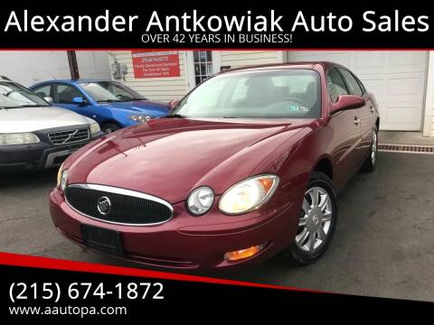 2006 Buick LaCrosse for sale at Alexander Antkowiak Auto Sales in Hatboro PA