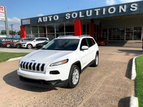 2018 Jeep Cherokee for sale at Auto Solutions in Warr Acres OK