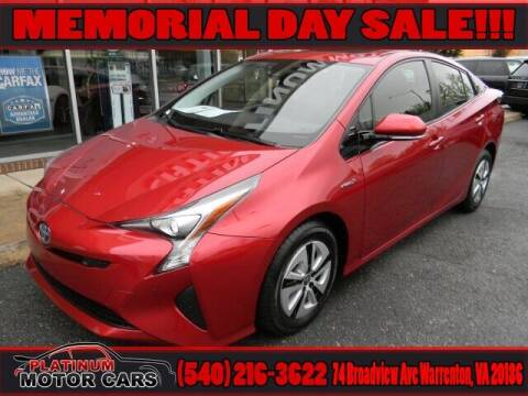 2018 Toyota Prius for sale at Platinum Motorcars in Warrenton VA