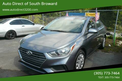 2018 Hyundai Accent for sale at Auto Direct of South Broward in Miramar FL