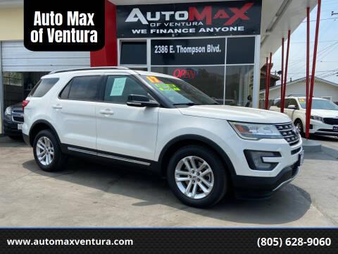 2017 Ford Explorer for sale at Auto Max of Ventura in Ventura CA