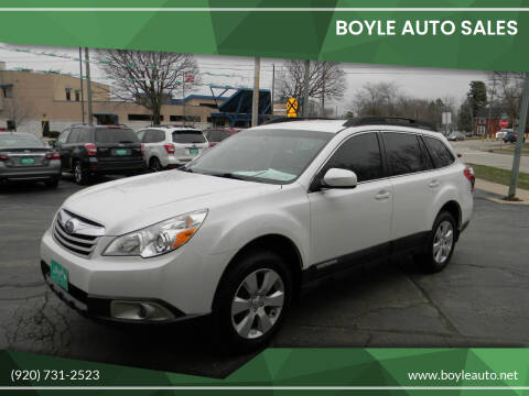2012 Subaru Outback for sale at Boyle Auto Sales in Appleton WI