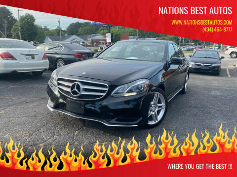 2014 Mercedes-Benz E-Class for sale at Nations Best Autos in Decatur GA