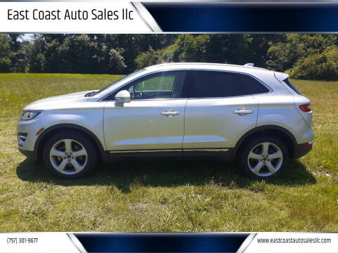 2018 Lincoln MKC for sale at East Coast Auto Sales llc in Virginia Beach VA