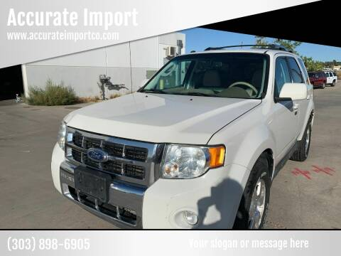2012 Ford Escape for sale at Accurate Import in Englewood CO